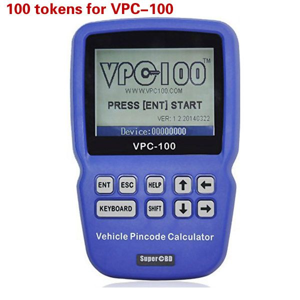 100 Tokens for VPC-100 Hand-Held Vehicle Pin Code Calculator
