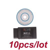 10pcs/lot ELM327 WIFI OBD2 EOBD Scan Tool support Android and iPhone/iPad