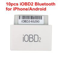 10pcs iOBD2 Bluetooth OBD2 EOBD Auto Scanner for iPhone/Android