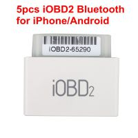 5pcs iOBD2 Bluetooth OBD2 EOBD Auto Scanner for iPhone/Android