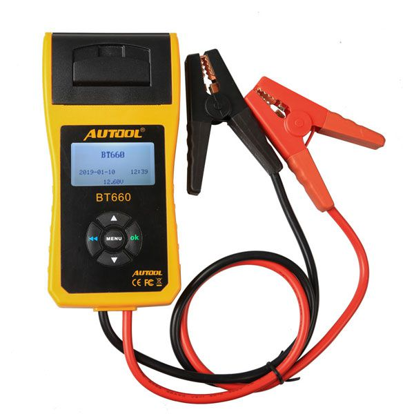 2017 Newest Arrival AUTOOL BT660 Battery Analyzer BT-660 Car Battery Tester Supports Printing Data Out
