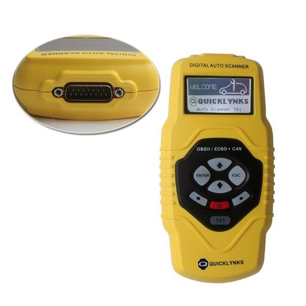 T61 OBD2 EOBD CAN Code Scanner Multilingual & Updatable
