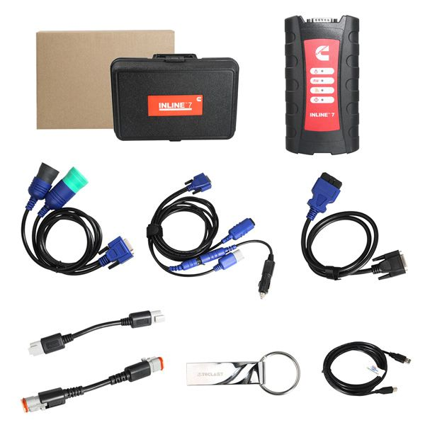 Cummins INLINE 7 Data Link Adapter with Insite 8.3 Heavy Duty Scanner Truck Diagnostic Tool Send 1 Time Free Activation
