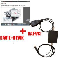 DAF VCI Lite + DAF DAVIE Developer Tool + DAF Devik Adblue Off Tool Heavy Duty Diagnostic Tool