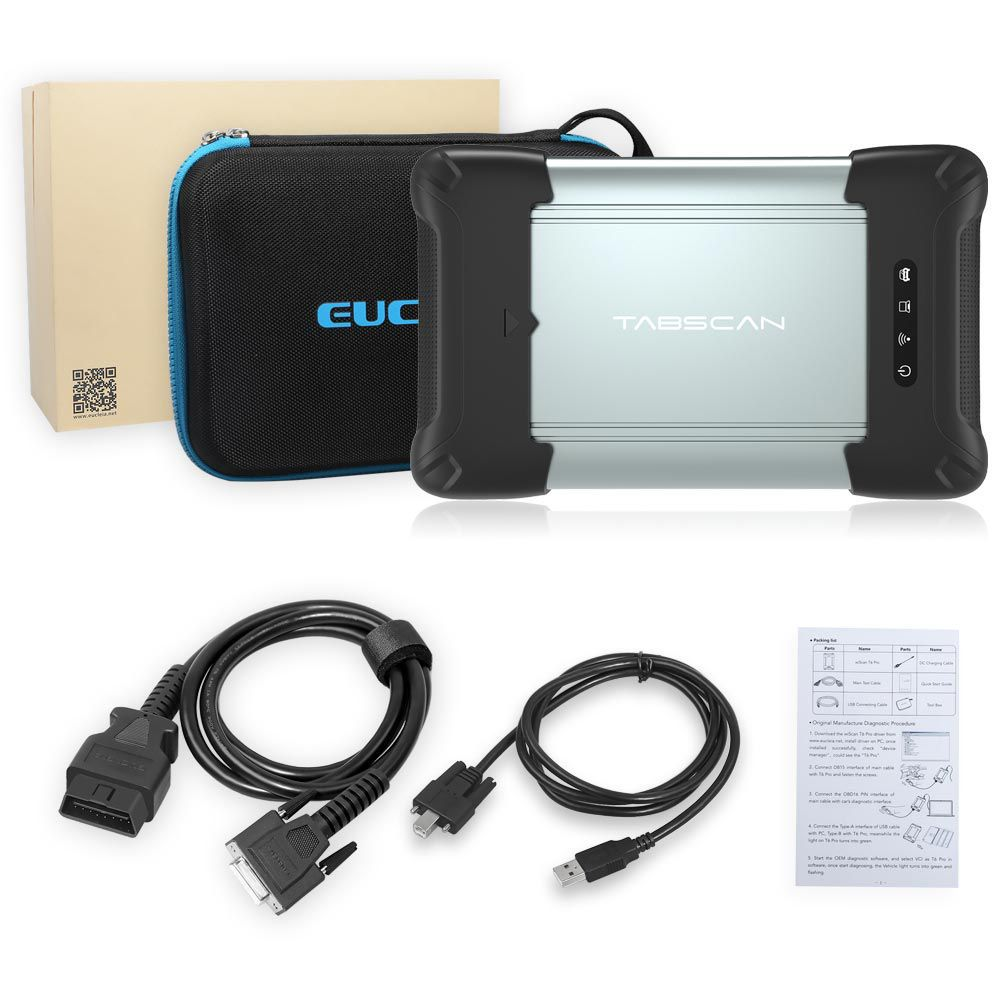 EUCLEIA wiScan T6 Pro J2534 Diagnostic Tool for TabScan S8 Pro