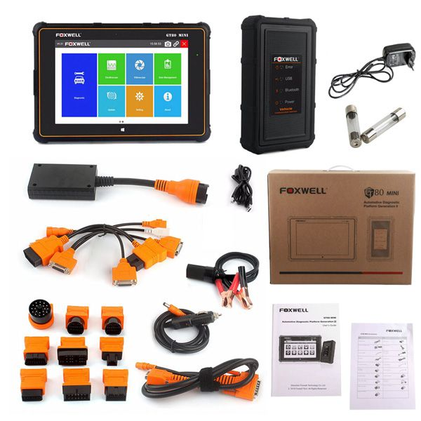 Newest Foxwell GT80 Mini OBDII Car Diagnostic Tool OBD2 Scanner Support ABS SRS Airbag Engine Transmission