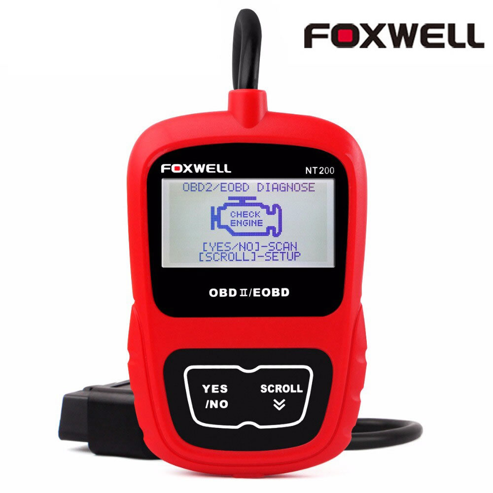 Original Foxwell NT200 CAN OBD2/EOBD Code Reader Free Update Online for Lifetime