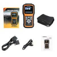 Foxwell NT520 Pro Multi-System Scanner with 1 Free Car Brand Software+OBD NT510 Firmware Updated Version Free Update Lifetime