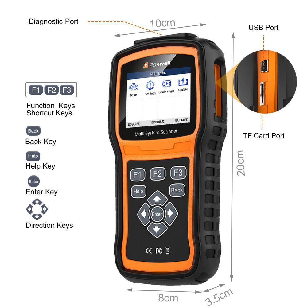 Foxwell NT530 Multi-System Scanner with 1 Free Car Make Update Version of NT520 Pro/NT510