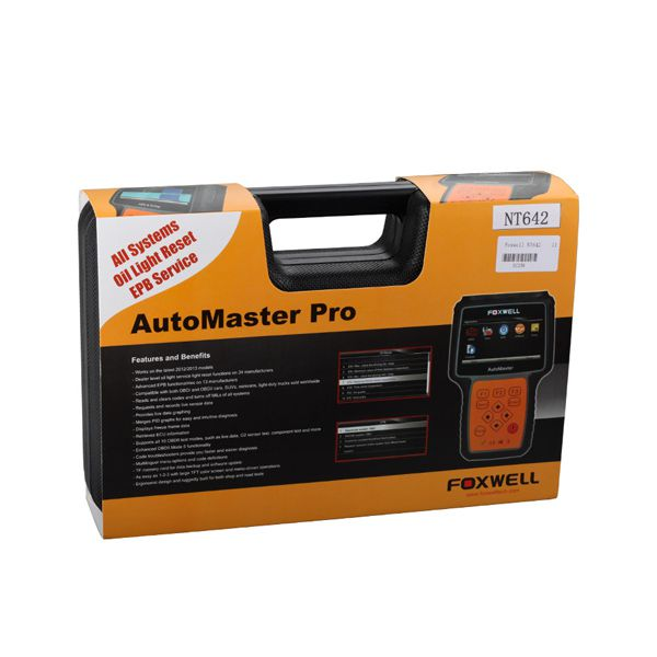 Foxwell NT642 AutoMaster Pro European-Makes All System+ EPB+ Oil Service Scanner