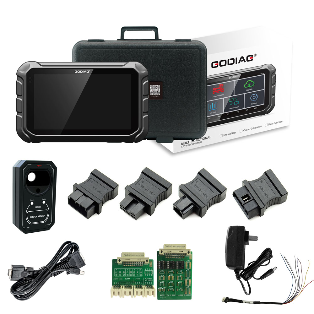 GODIAG GD801 Android OBDII Key Programmer Supports Mileage Correction ABS EPB TPMS EEPROM