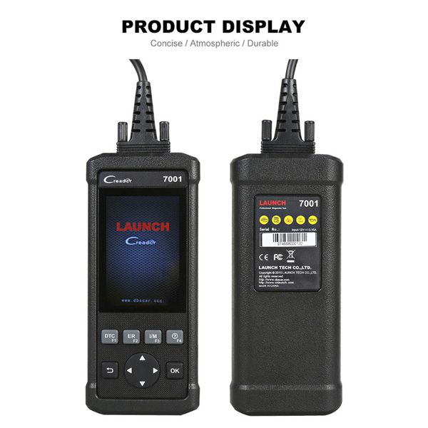 LAUNCH DIY Code Reader CReader 7001 Full OBD2 Scanner/Scan Tool with Oil Resets Service