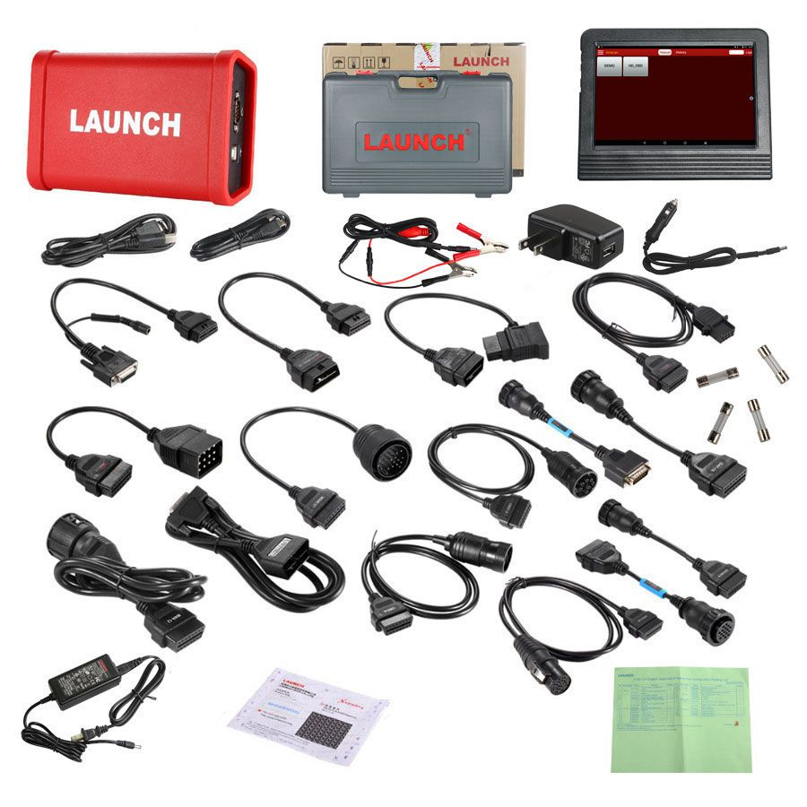 Launch X431 V+ Wifi/Bluetooth X431 and HD Heavy Duty Truck Diagnostic Module Supports Trucks