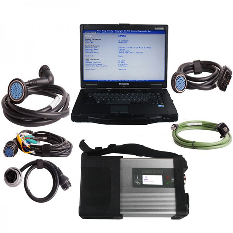 V2019.5 MB SD C5 Star Diagnosis Plus Panasonic CF52 Laptop Software Installed Ready to Use
