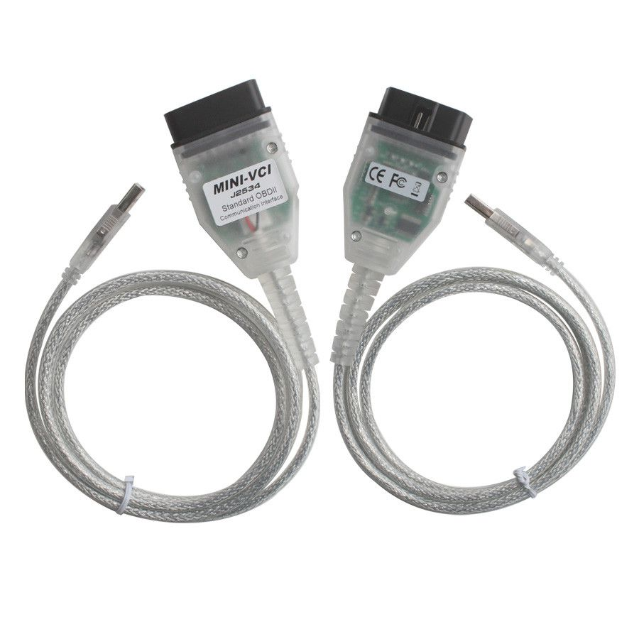 Newest MINI VCI Cable forToyota TIS with  Techstream V14.20.019 and 22Pin to 16pin OBD2 Cable
