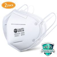 KN95 Masks with 2 pcs Filter Paper - Protection Mouth Mask - Sealed Bag -Protective Face Mask Dust Filter Mouth Cover