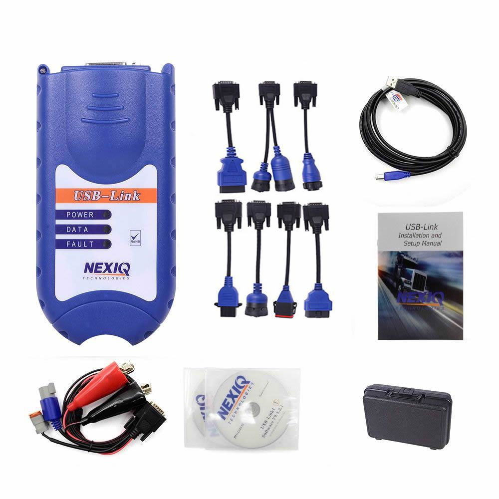NEXIQ USB Link + Software Diesel Truck Diagnose Interface And Software Full Set