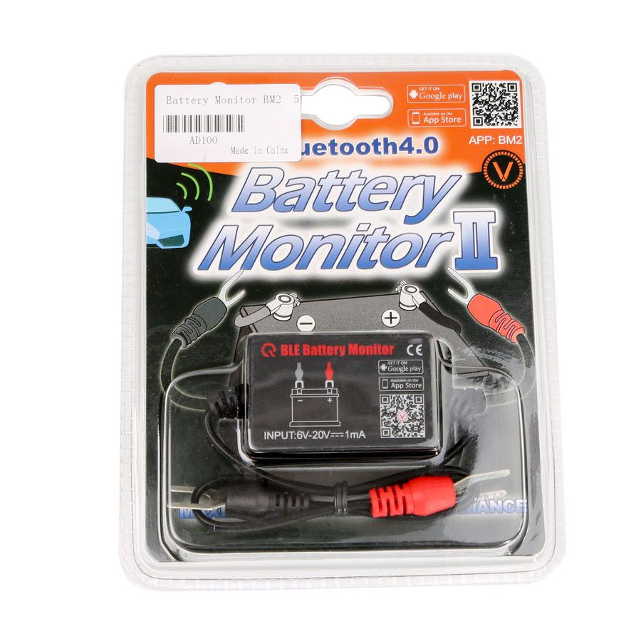 QUICKLYNKS Battery Monitor BM2​​ Bluetooth 4.0 Device Car 12V Battery Tester Digital Analyzer