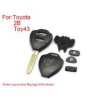 Remote Key Shell 2 Buttons for Toyota Corolla Easy to Cut Copper-nickel Alloy Gig Logo with Sticker 5pcs/lot