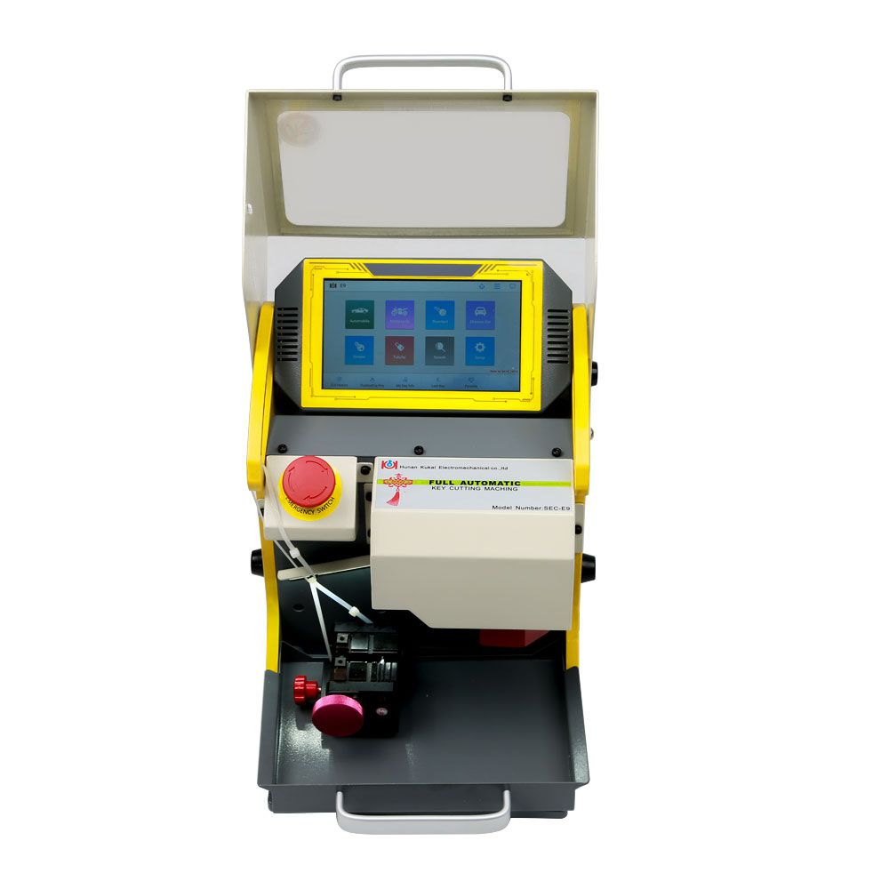 2019 Latest SEC-E9 CNC Automated Key Cutting Machine with Android Tablet Get Free Ford Tibbe Jaws FO21 Clamp