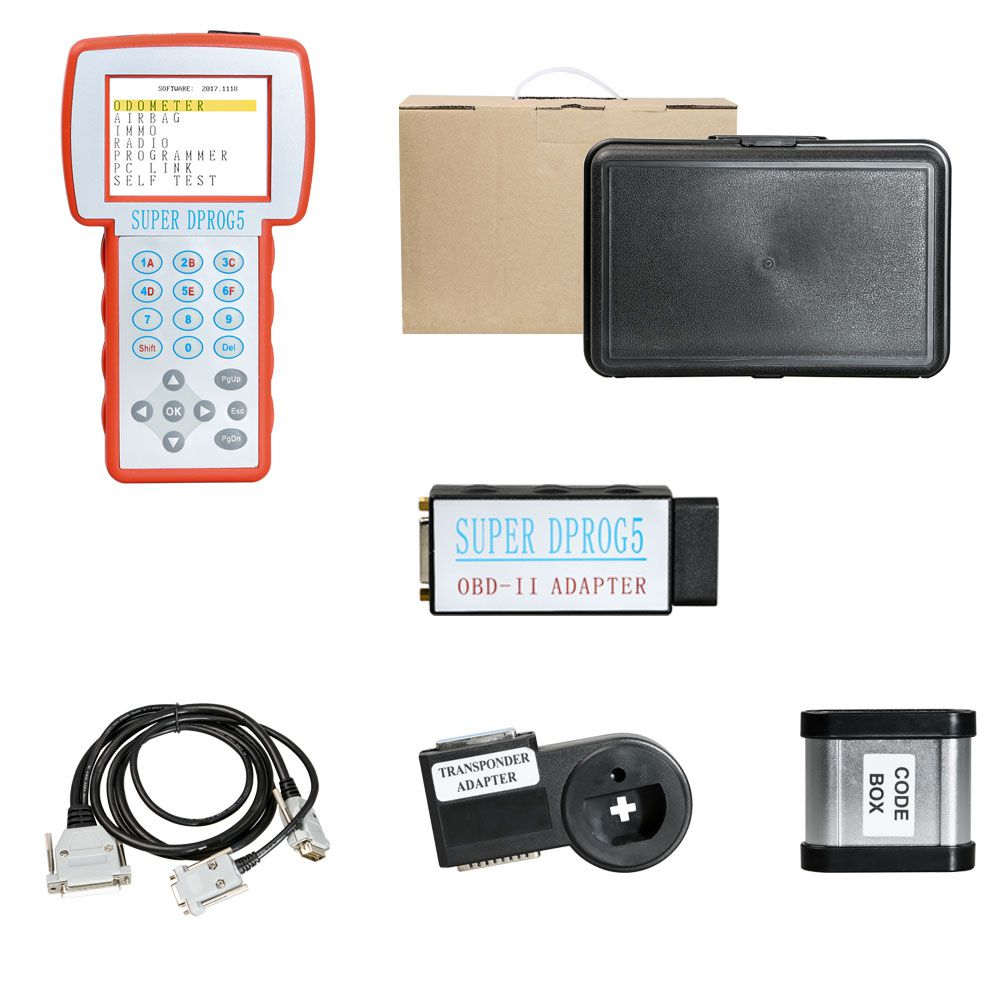 Super Dprog5 IMMO Odometer Airbag Reset OBD Tool 3 in 1 for BMW Benz and V-A-G vehicles replace Data Smart 3+