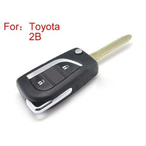 Modified Flip Remote Key Shell 2 Button For Toyota 5pcs/lot