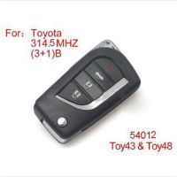 Modified Remote Key 4buttons 315MHZ for Toyota (No Chip Included)