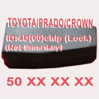 4D (60) Duplicabel Chip 50xxx (Not Smart Key) for Toyota/Prado/Crown 10pcs/lot