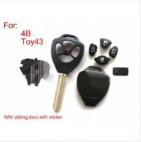 Remote Key Shell 4 Button With Sticker for Toyota 5pcs/lot