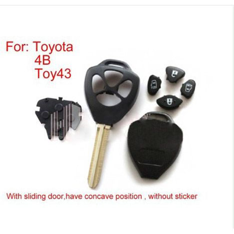 Remote Key Shell 4 Button (without sticker) for Toyota 5pcs/lot