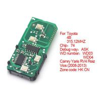 Smart card board 4 buttons 315.12MHZ number :271451-3370-Eur for Toyota