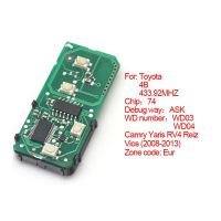 Smart card board 4 buttons 433.92MHZ number :271451-3370-Eur for Toyota