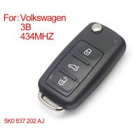 Smart Remote Key 3 Buttons 433MHZ Type: 5K0 837202 AJ for VW New Bora SagitarTouran