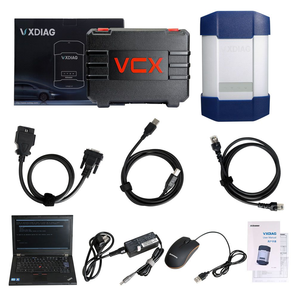 VXDIAG Multi Diagnostic Tool for HONDA,GM,VW,FORD,MAZDA,TOYOTA,PIWIS,Subaru,VOLVO,BMW,BENZ with 2TB HDD and Lenovo T420