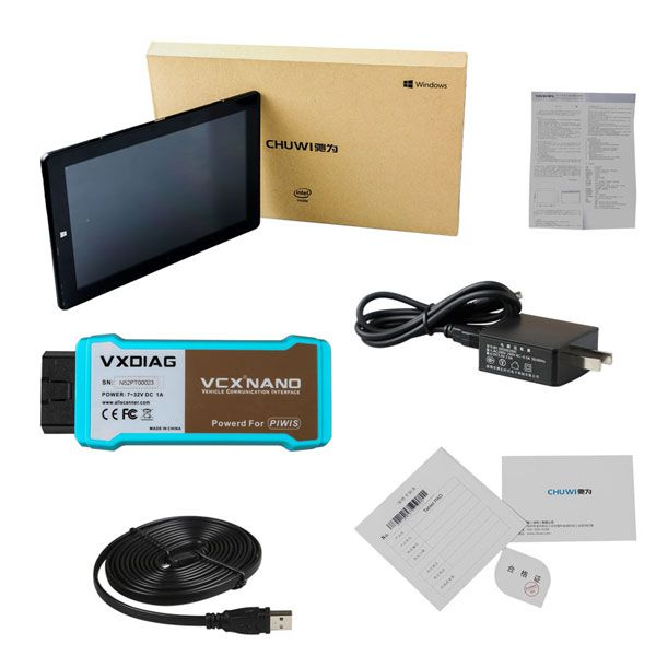 WiFi VXDIAG VCX NANO for Porsche Diagnostic Tool V17.5 With Win10 Tablet PC