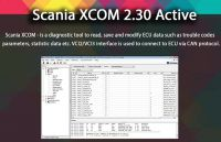 SCANIA DEVELOPER Software XCOM V2.30 (XCOM-SOPS-Scania SDP3-BNS II) Support Win XP/Vista/7/8