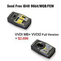 Xhorse VVDI MB Tool + VVDI2 Full Version including OBD48 + 96bit 48 Clone + MQB + BMW FEM/BDC Free Shipping by DHL