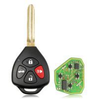 XHORSE XKTO02EN Wired Universal Remote Key Toyota Style Flat 4 Buttons for VVDI VVDI2 Key Tool English Version 5pcs/lots