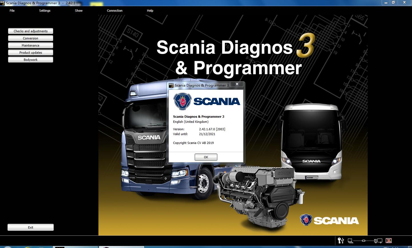 V2.42.1 Scania SPD3 for VCI-3 VCI3 Scanner