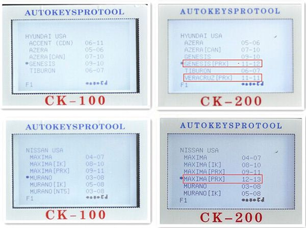 CK-200 Key Programmer Screen Display 9