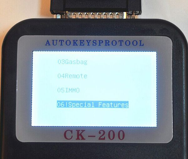 CK-200 Key Programmer Screen Display