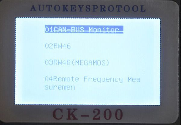 CK-200 Key Programmer Screen Display 3