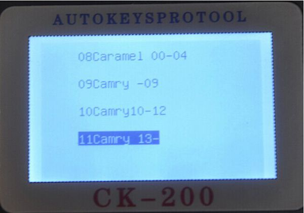 CK-200 Key Programmer Screen Display 5