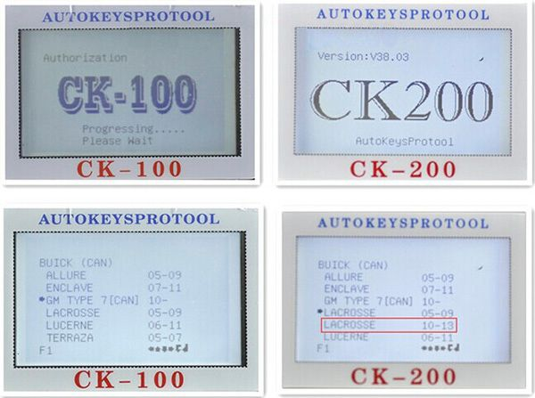 CK-200 Key Programmer Screen Display 7