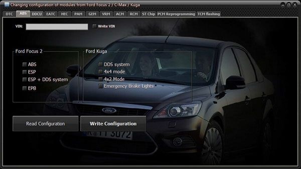 UCDS Changing configuration of module's from Ford Focus 2/C-Max/Kuga
