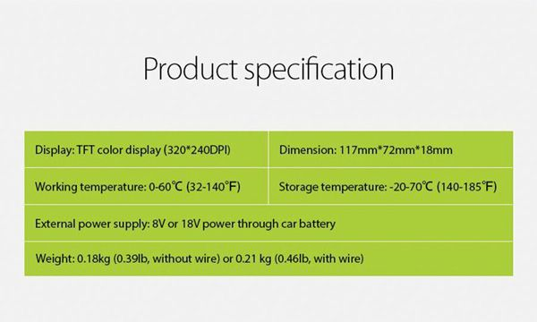 JDiag JD201?product Specifications