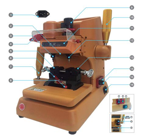 L1 Vertical key cutting machine Outlook