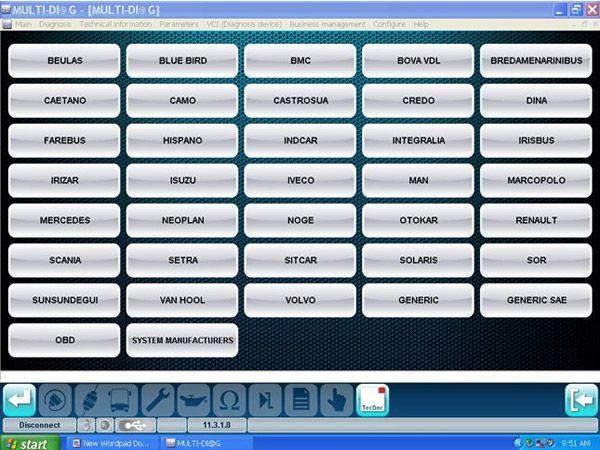 MULTI-DIAG Bluetooth TRCUK Diagnostic tool - obd365-10