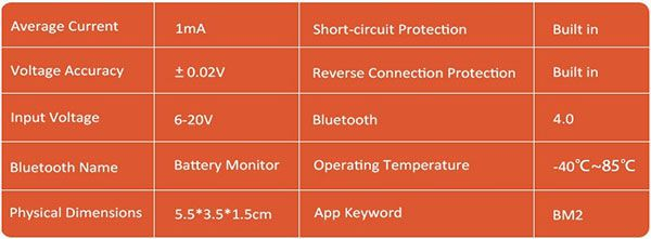 Battery Monitor BM2 product information
