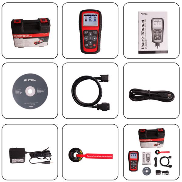 autel tpms ts501 package list